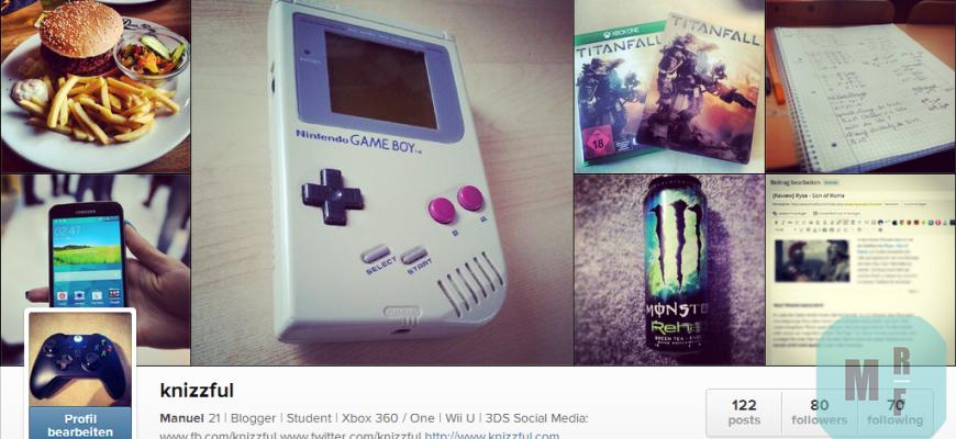 Instagram Header Knizzful MRF